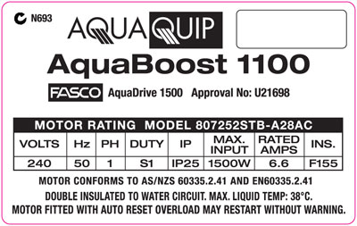 AquaBoost Label